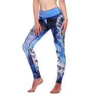Yoga Pants Fashion Print Full Length sport leggings Elastic ...