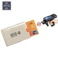 Neu Anti Rfid Wallet Blocking Reader Lock Bank Kartenhalter Id Bank Card Fall Schutz Metall Kreditkarteninhaber Aluminium 6 * 9,3 cm