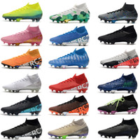 2020 새로운 Mercurial Superfly 7 Elite SE FG Neymar Ronaldo Mens 축구 클리트 싼 축구 신발 Calk Mens 축구 부츠 Scarpe da Calcio