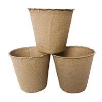 8 * 8 cm Bahçe Fidanlık Pulp Saksılar Biyobozunur Fide Yetiştirme Bardaklar Biyobozunur Çiçek Tepsi Arttırıcı fincanlar 2000pcs LJJK2021