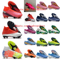 2021 Scarpe da calcio Mens Mercurial Superfly 7 tacchetti VP XIII Elite NJR CR7 FG Boots Boots Tacos de Futbo 02L