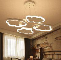 북유럽 현대 미니멀리스트 클라우드 샹들리에 보육 어린이 룸 조명 만화 창의력 LED chandelier pnendant 램프 조명
