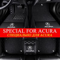 5D Stylisme luxe Double Custom Fit Tapis de voiture pour Acura MDX RDX CDX NSX-L TLX ZDX TSX RL TL RLX ILX cuir Tapis Avec voiture LOGO