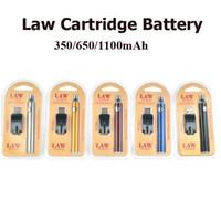 Law Preheat Batterie Blister Pack Chargeur Kit 350mah 650mah 900mAh 1100mah Vaporisateur Stylo Vape pour Cartouches D'huile Épaisse