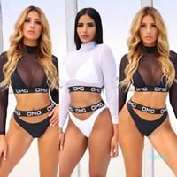 Wholesale-Новые костюмы Hot Sexy OMG 3шт Mesh Vest Женщины бикини Установить Купальники Пляжная купальник Плавательные