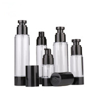 15ml 30ml 50ml 80ml 100ml 120ml Empty Black Airless Pump Dis...