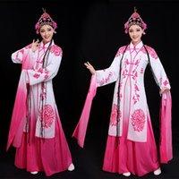 Clássico de Pequim ópera stage desgaste gradiente cor mangas compridas dança traje carnaval hanfu antigo drama desempenho roupas para mulher