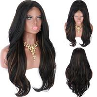 Brasilianisches Jungfrau-menschliches Haar-Spitze-Front-Perücke lose Welle Highlight-Farbe 1BT30 Ombre volle Spitze-Perücken vorgepteten natürliche Haaransatz für Frauen