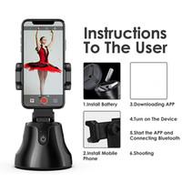 Rotazione a 360 gradi Auto FaceObject Tracking Smart Shooting Telecamo Telefono Mount Vlog titolare dello smartphone per tutti i telefoni