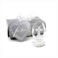 Cristallo Croce Standing basamento di favori e regali di battesimo del bambino favore del regalo bBaby doccia Prima Comunione festa di nozze