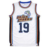 ABD'den gemi Aaliyah # 19 Bricklayers Basketbol Jersey 1996 MTV Rock N Jock Film Erkekler Tüm Dikişli S-3XL Yüksek Kalite