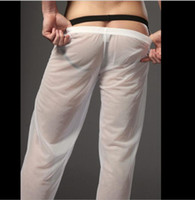 Sonno Bottoms pura maglia pantaloni casual da uomo morbida Mens Sonno Bottoms Homewear vedere attraverso i pantaloni del pigiama slacciare Lounge