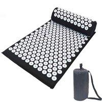 3pcs sistemas Lotus Yoga Mat acupuntura masaje estera de la aptitud para el amortiguador trasero Shakti ZZA2084 aliviar el estrés