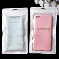 ZIP-Einzelhandelspaket OPP-Tasche Weiß Clear PP PVC-Handy-Kastenverpackung für iPhone XS Max XR Samsung S10 Plus
