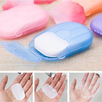 20 Pcs Set Disposable Boxed Soap Paper Portable Aromatherapy...