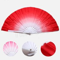 quente 20pcs New Arrival Dança chinesa Fan Silk Weil 5 cores disponíveis para White fã osso casamento PartywareT2I5658