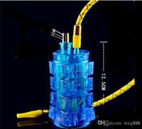 الاكريليك مربع الزجاج النرجيلة الجملة زجاج بونغ زيت الموقد زجاج أنابيب المياه النفط الحفز التدخين مجانا