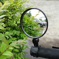 1 pareja bicicleta retrovisor manillar espejos ciclismo retro vista mtb bicicle mango de silicona espejo retrovisor negro