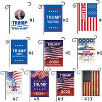 10 Renkler 2020 Donald Trump Bahçe Bayrağı Amerika Büyük Yapmak Yine Trump Açık Parti Asılı Bahçe Bayrakları Ev Dekorasyon 30 * 45 cm SALEB71603