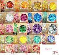 20 Farbe Pailletten Glitter Makeup Lidschatten Fischschuppe Pulver Hochglanz Pailletten Flüssigkeit Lidschatten Kosmetik Dhl-freies Verschiffen