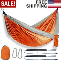 Portable Moustiquaires extérieur hamac léger en parachute en nylon Camping Hamacs pour objet randonnée en plein air Voyage chaud