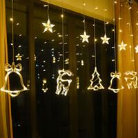 Árvore de Natal decoração Elk Bell String Luz LED Festa Ornamento para Home Pendurado Garland Gift Gift 3.5 * 1m