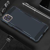 El caso más nuevo de fibra de carbono para el iPhone Teléfono 11 Pro Max XS XR 8 7 6 Delgado mate ultrafino de TPU s10 cubierta de Samsung Nota 10