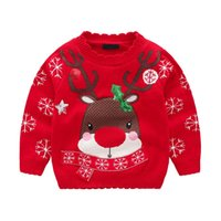 Baby Girl Christmas Sweater Autumn Winter Kids Clothes Toddl...