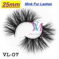 VMAE Factory Naturel Long Tireux 25mm 22mm Sibérie Fourrure Véritable 5D Mink Cils Extension Épaissement 3D 6D Maquillage Maquillage Eye Lash sur mesure