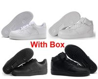 Con Box One 1 All White Tutto nero 1s Dunk MID Solo una volta Uomo Donna Flyline Scarpe da corsa Sport High Low Sneaker da allenamento