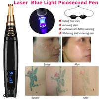 2019 جديد ترقية picosecond القلم الثاني الأزرق الليزر الوشم إزالة القلم ندبة بقعة العلاج الصباغ مكافحة الشيخوخة صالون سبا المنزل استخدام