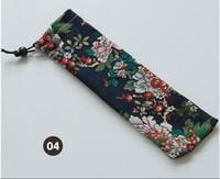 300 unids Estilo Japonés Bolsa de Almacenamiento de Vajilla Portátil de Viaje Con Cordones Bolsa de Cubiertos Caso Portátil Para Cuchara de Paja Cuchillo Tenedor