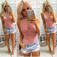 2019 Trendy Clothing Sexy Lace Stitching Pit Tight Body Mujeres Jumpsuit