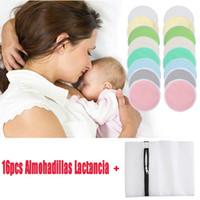 16pcs Organik Bambu Hemşirelik Meme Emzirme Pedler # G8 için Annelik Yeniden kullanılabilir Nipplecovers için Pedler Emzirme Meme Pad