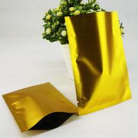 Golden Matte Aluminiowe Torby - Mylar Folie Plastikowe woreczki z tworzywa sztucznego ciepła, Top Open Gluminized Folia Wouch, kolorowy worek pakowania 000