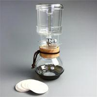 400ml Buzlu Kahve Makinesi Cam Buz Damla Cezve Percolator Takımı v60 Buz Kahve Damlatıcı Cam Soğuk Brew Espresso Makinesi Filtreler