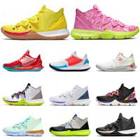 Nike Kyrie 5 basket di vendita degli uomini di colore multi colore bianco Metallic Gold amici hanno un giorno CNY Mamba dimensioni scarpe sportive Mentality 7-12