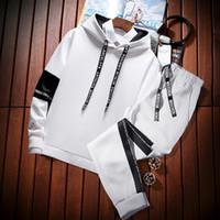 2019 Мода зима Спортивный костюм Мужская одежда Пот костюм куртка Hoody Костюм Casual Men Outfit Sportwear Hommes пальто JJ60NT