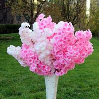 6pcs Falso Flor Flor de cerejeira ramo Begonia árvore de Sakura-tronco para a planta Falso Evento do casamento da árvore Deco flores artificiais decorativa