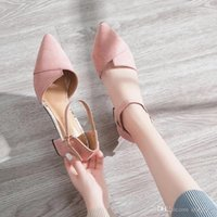 2019 spring summer new pointy bag fairy style sandals Korean...