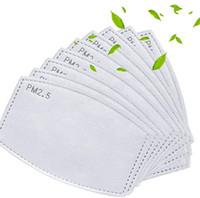 PM2,5 Activé Filtre à charbon Pads papier pour la bouche Remplacer Breath Insert 5 couches Filtre adulte Insérer et masques pour enfants pad filtre LJJK2232
