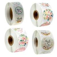 500pcs Roll Floral Love Thank You Stickers Wedding Decor Tag...