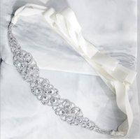 Heißer Verkauf EA grenzüberschreitende neue High-End-Strass-Hochzeitsschärpen Brautschmuck Brautkleid Gürtel gewebt Wildgürtel Brautzubehör
