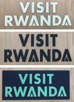 VISITER LE RWANDA logo des sponsors d'impression sur les manches de maillot de football autocollants imprimés badges publicitaires en plastique imprimés estampillés estampillage