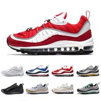 Nike Air max 98 airmax 98 shoes 2019 Saldi esclusivi uk GMT Sport Scarpe da corsa per uomo donna Gundam Tour Giallo-blu Triple Nero Gym Red South Beach Runners Traspirante