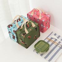 Flamingo Lunch Box Saco Oxford Pano Bolsa de Isolamento Térmico De Alumínio Filme Zíper Bento Pacote De Armazenamento De Refeição H052