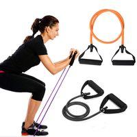 2020 120cm Йога тянуть канаты упругих полос сопротивления Фитнес тренировки тренировки трубки практические тренировки резиновые растягивающие тенденция