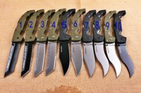 NEWER SOĞUK ÇELİK Voyager'in dogleg köpek bacak ABS titanyum Katlama Kamp Survival Bıçak Noel bıçak hediye bıçaklar 04607