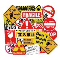 50 шт. Лот предупреждающий знак Мода Водонепроницаемый ПВХ Съемные наклейки Ноутбук Скейтборд Гитара Багажник Автомобиль Мотоцикл Велосипед Граффити Наклейки