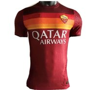 Totti Player Version روما 21 20 Dzeko Home Away Soccer Roma Dzeko Sports de Rossi Jersey 2021 2020 El Shaarawy Nainggolan Football Shirt